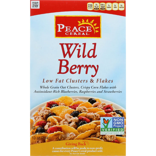 Peace Cereals Cereal - Clusters And Flakes - Low Fat - Wild Berry - 10 Oz - Case Of 6
