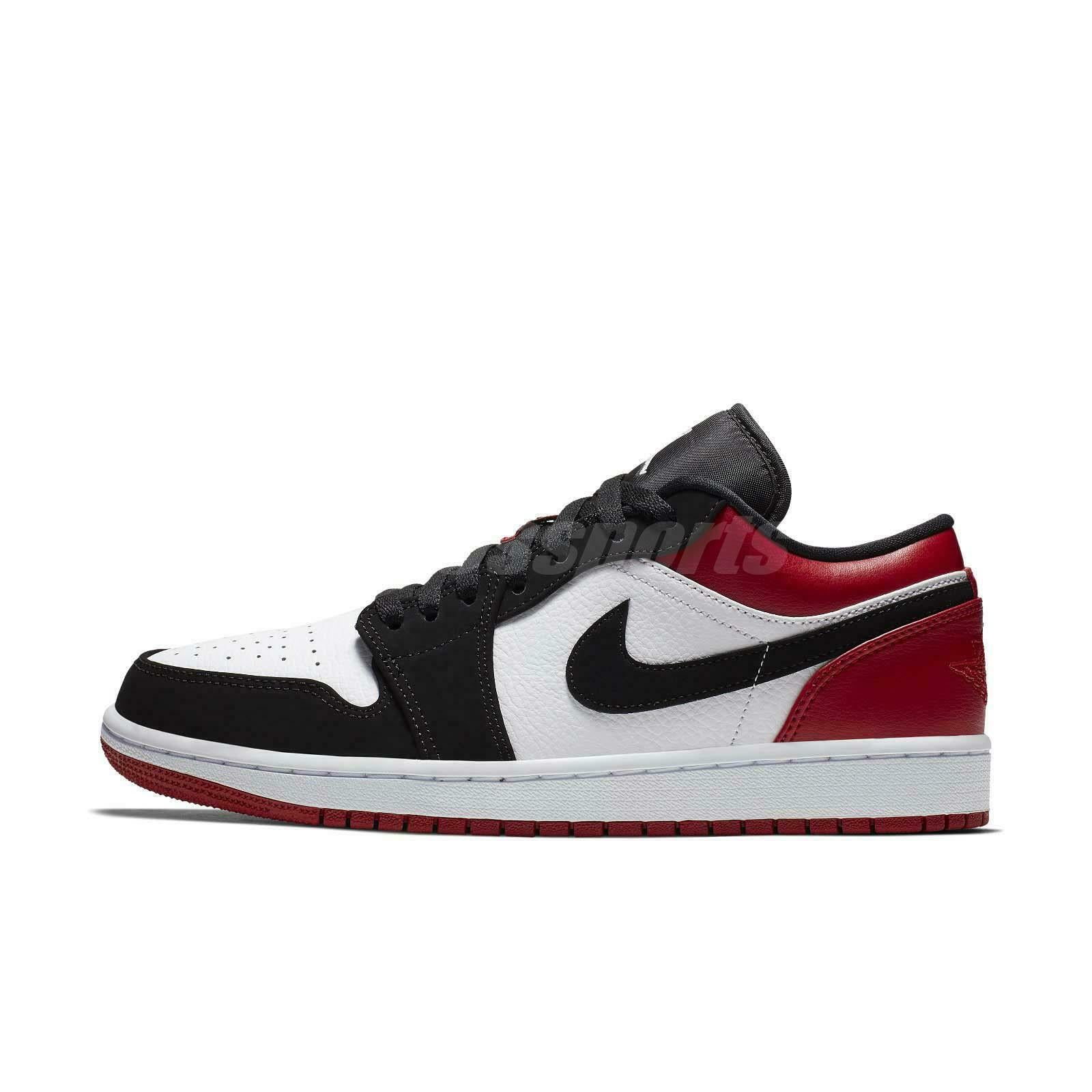 finest selection fcaa8 310d2 ... Load image into Gallery viewer, Nike Air Jordan 1 Low Black Toe White  Black Gym ...