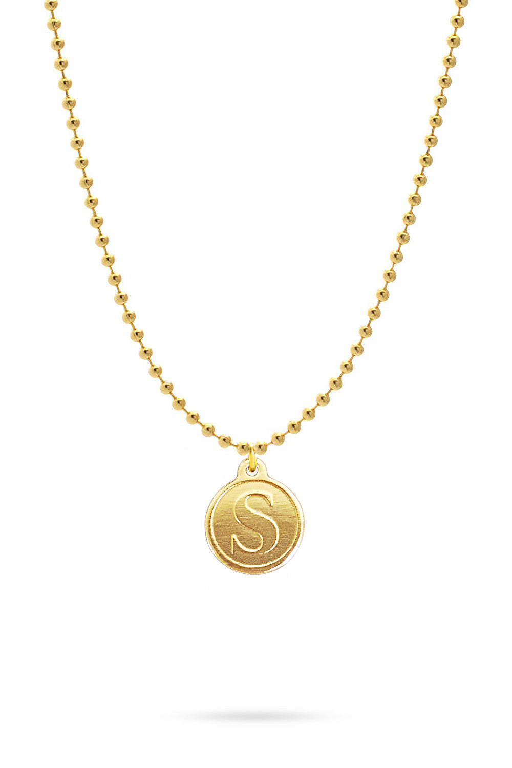 Me, Myself, and I\' Necklace   Gold - Domo Beads