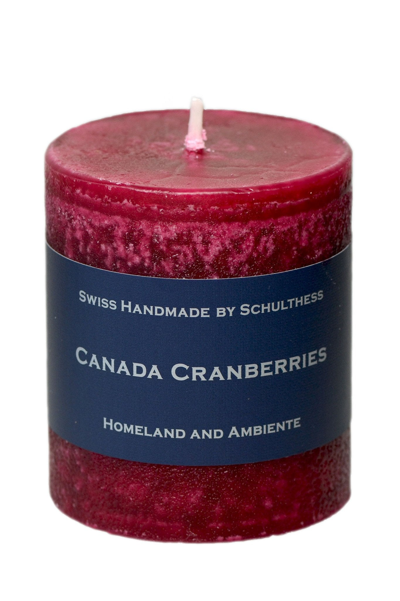 Schulthess Duftkerze, Canada Cranberries, Ø 70 mm Höhe 120 mm