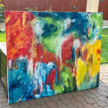 Abstract Painting on Large Canvas