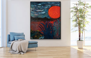 Blood Moon on large canvas