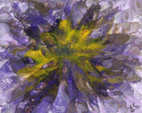 Flower in purple and yellow