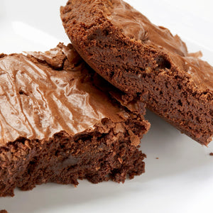 Triple chocolate brownie platter