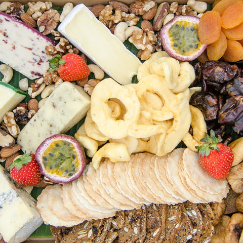 Assorted farmhouse cheese platter & dried fruits | BBQ At Your Place Sydney BBQ Catering, Party, Wedding, Birthday, Kids, Event & Fundraising BBQ Catering