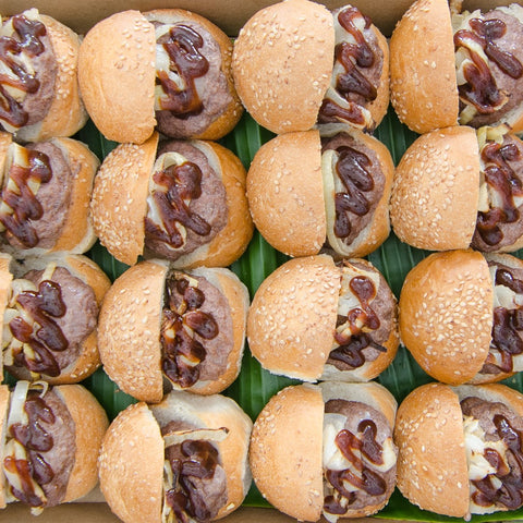 Mini Angus beef sliders platter | BBQ At Your Place Sydney BBQ Catering, Party, Wedding, Birthday, Kids, Event & Fundraising BBQ Catering
