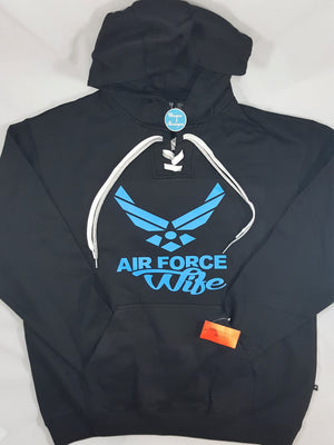 Air Force Wife Lace-Up Hoodie
