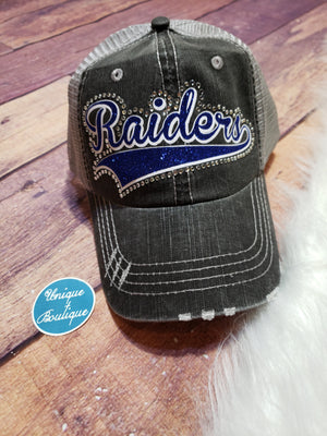 Raiders Rhinestone Trucker Hat