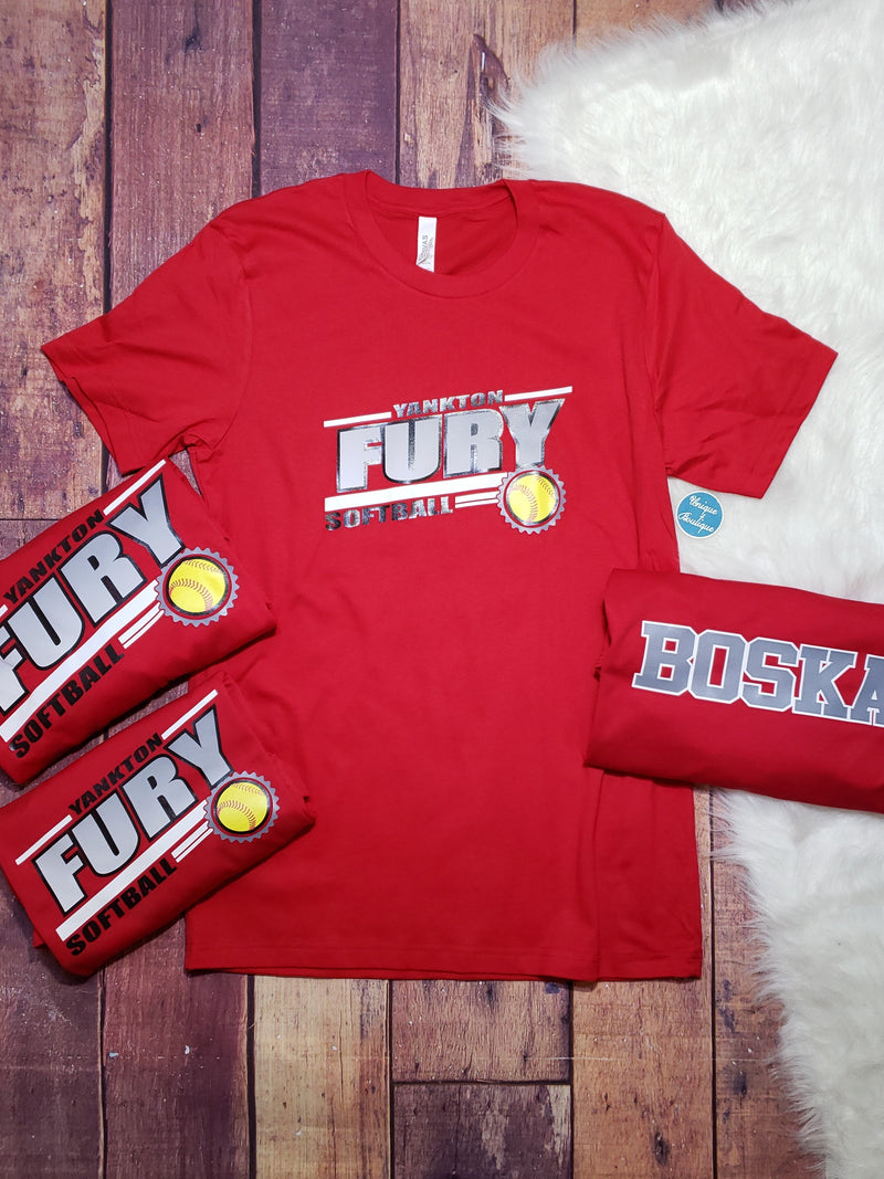 Yankton Fury Softball Tee