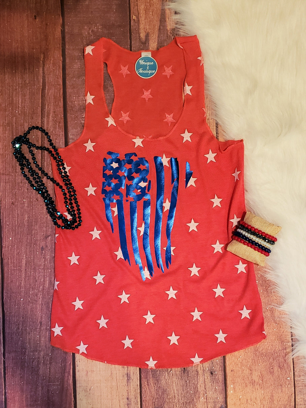 Stars And Stripes Red Tank