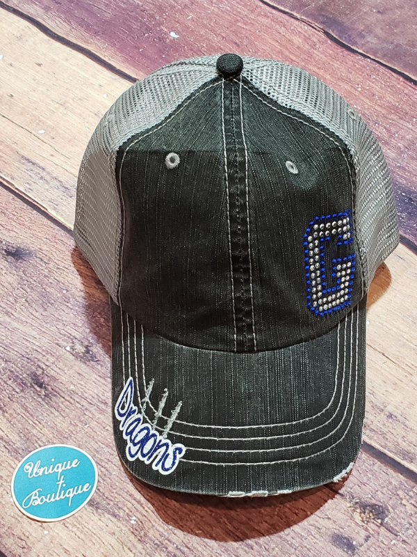 Dragons G Rhinestone Trucker Hat