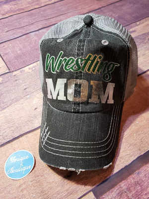 Wrestling Mom Trucker Hat - More Color Options