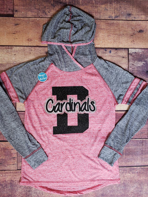 Cardinals D Rhinestone Ladies Top