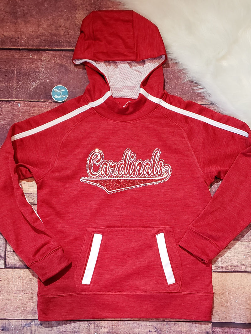 Cardinals Rhinestone Tonal Hoodie - More Options