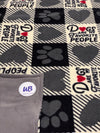 Dogs Are My Favorite People Adult Size Blanket-You Customize