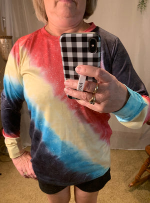 Colorful Ombre' Tie-Dye Top