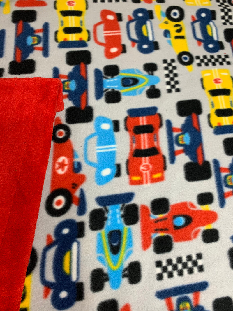 Indy Race Cars Fleece Blanket