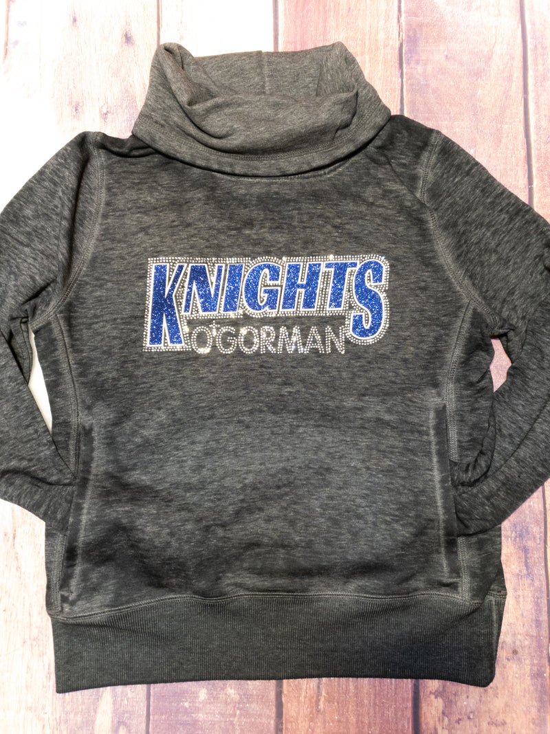 Knights O'Gorman Rhinestone Cowl Neck