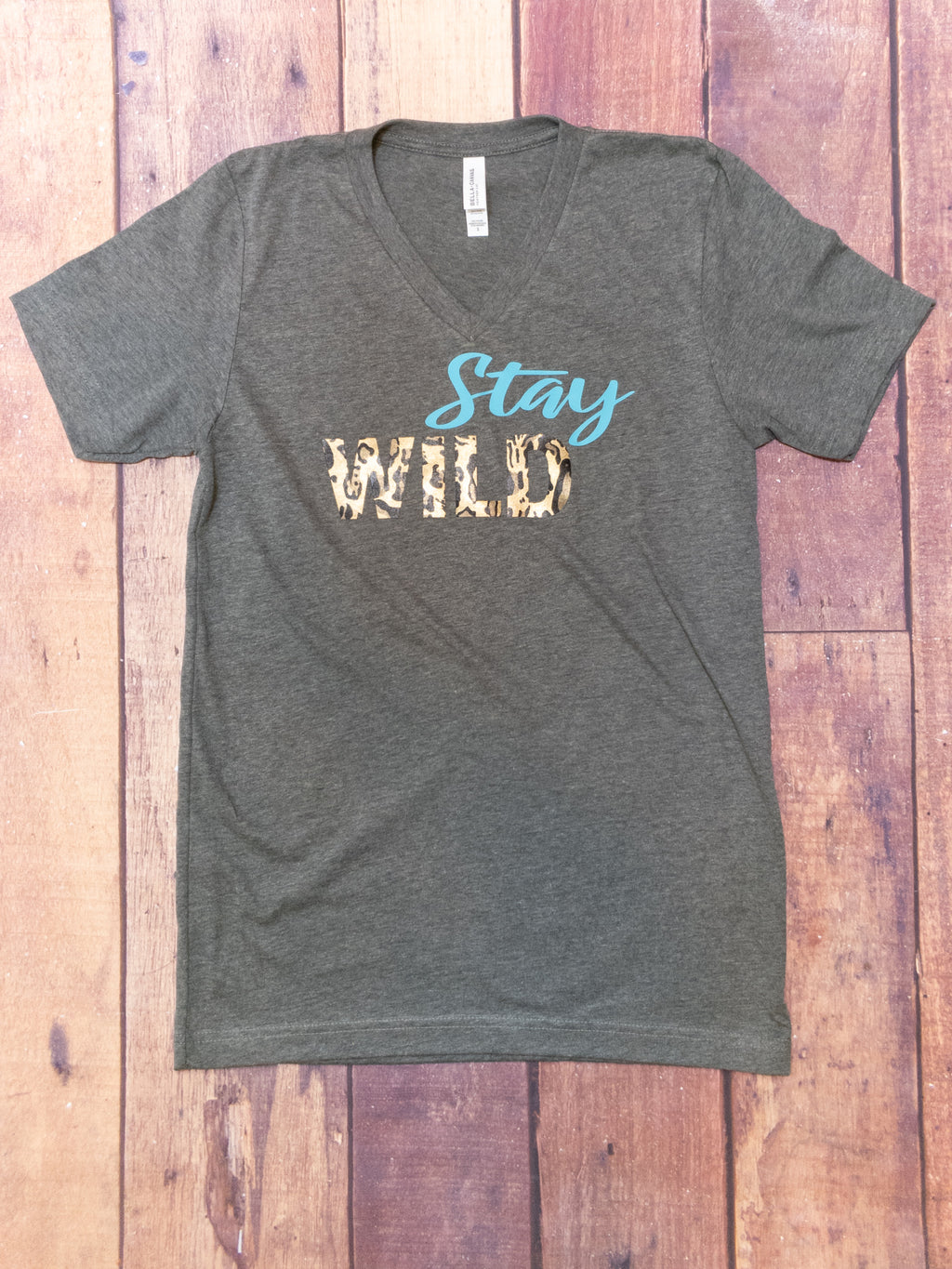 Stay Wild V-Neck Graphic Tee