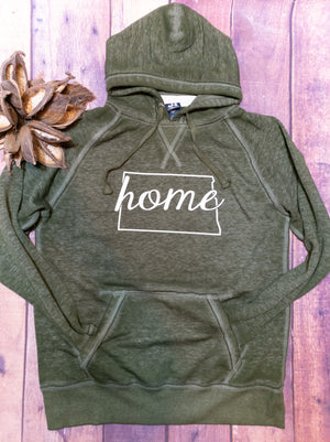 North Dakota Home Fleece Hoodie