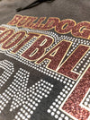 Bulldogs Football Mom Rhinestone Cowl Neck