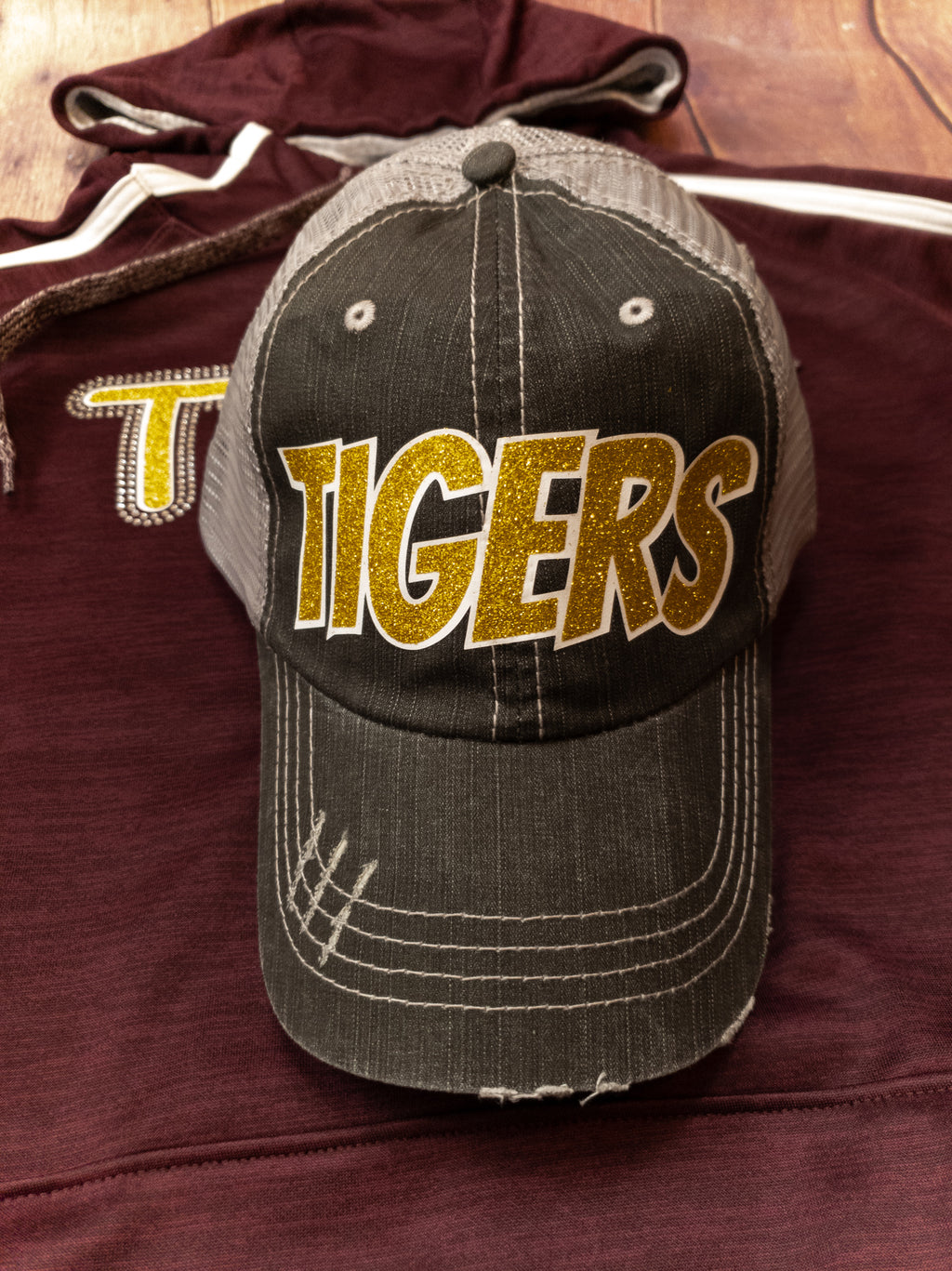 Tigers Gold Sparkle Trucker Hat