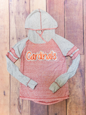 Cardinals Rhinestone Ladies Top