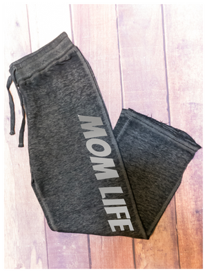 Mom Life Metallic Print Sweatpants