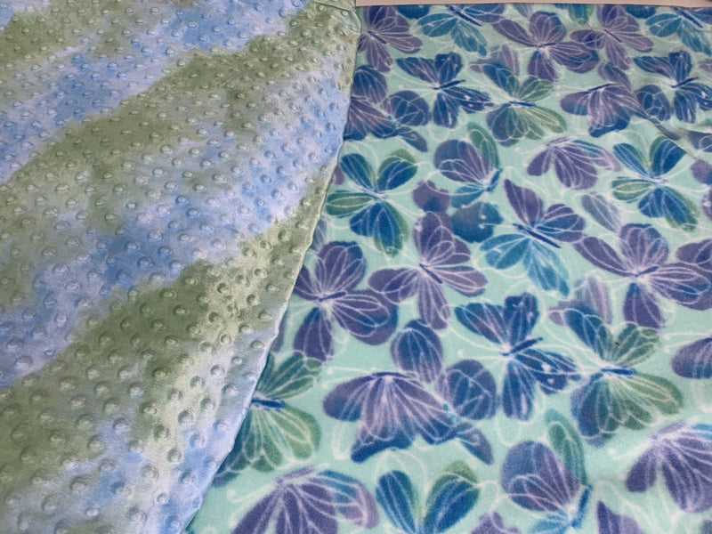 Beautiful Butterfly Minky backed Blanket