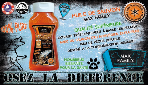 Huile de Saumon MAX FAMILY PET FOOD Bully-Shop.com