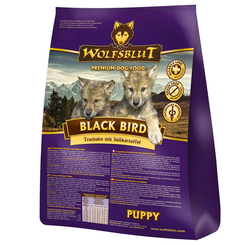 WOLFSBLUT BLACK BIRD PUPPY DINDE ET PATATE DOUCE