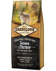 CARNILOVE Adult Large Breed Saumon et Dinde Croquettes Sans Céréales Bully-Shop.com