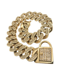 "Bully-Shop.com ""THE DIAMOND"" Collier Miami Cuban Link 32mm Or"