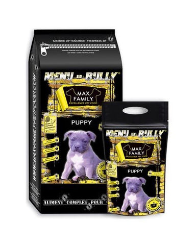 Bully-Shop.com MENU BULLY PUPPY - Poulet, Dinde & Saumon, MAX FAMILY EXCELLENCE PET FOOD GRAIN FREE Croquettes Sans Céréales pour chiot