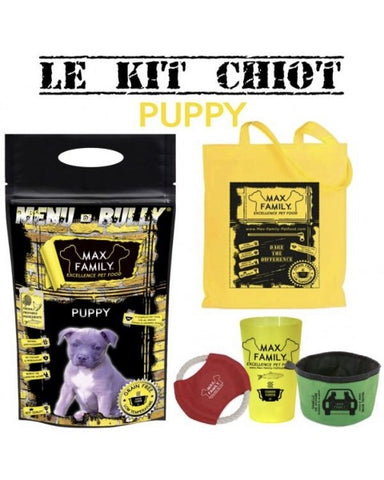 Bully-Shop.com MENU BULLY PUPPY Kit chiot Sans Céréales MAX FAMILY PET FOOD