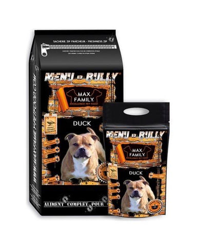 Bully-Shop.com MENU BULLY DUCK,  Canard, Croquettes Sans Céréales by MAX FAMILY EXCELLENCE PET FOOD