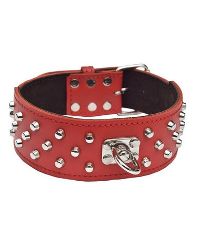 "Bully-Shop.com ""GALACTUS"" Collier Cuir Rouge"