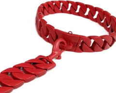 Bully-Shop.com Miami Cuban Links Laeash Laisse 43mm x 60cm Rouge