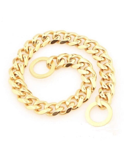 "Bully-Shop.com ""GOURMETTE"" Collier Chaîne Or Maille 15mm"
