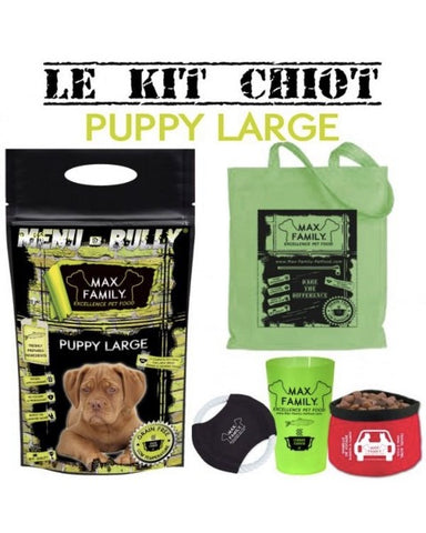 Bully-Shop.com MENU BULLY PUPPY LARGE Kit chiot MAX FAMILY EXCELLENCE PET FOOD