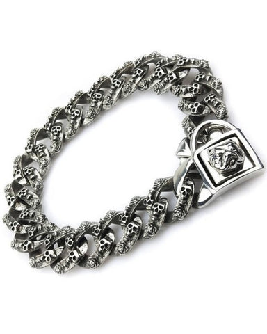 "Bully-Shop.com ""HELA"" Collier Miami Cuban Link 32mm  Argent"