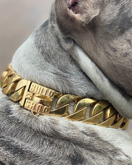 "COLLIER CUBAIN ""BALBOA Gold"" Collier Miami Cuban Link 32mm Bully-Shop.com"