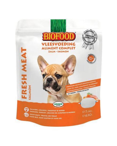 Biofood Chien Aliment Complet Saumon 7x90g