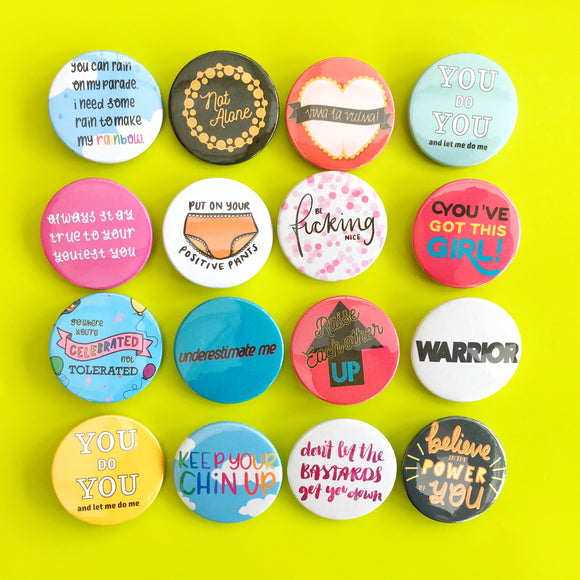 Enamel pins & button badges
