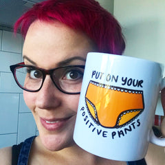 Coffee and positive pants ALWAYS!