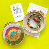 Sloth Mama cross stitch kit
