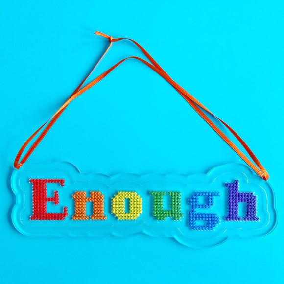 Enough stitchable acrylic plaque