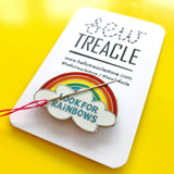 Look for rainbows enamel needle minder