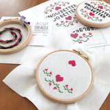 "Floral ""create your own"" cross stitch kit"