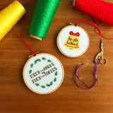 Feeling Fucking Festive cross stitch kit bundle